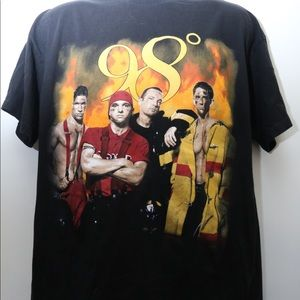"Vintage ""98 DEGREES- Heat It Up Tour"" Concert Tee"